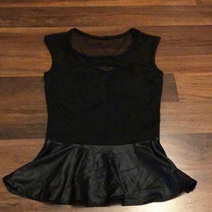 Tops - Peplum black top